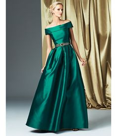 Shop for Eliza J Off-the-Shoulder Short Sleeve Taffeta Ball Gown at Dillards.com. Visit Dillards.com to find clothing, accessories, shoes, cosmetics & more. The Style of Your Life.