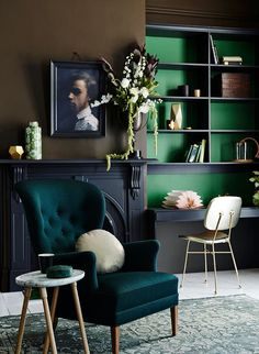 The Eye Spy Milk Bar) that it's almost too much for my poor heart to take in. Paired with brown and black, emerald green and deep teal shine brilliantly. #greenliving