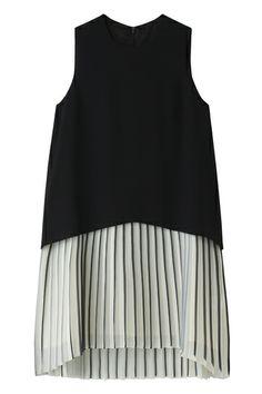 ミュラー オブ ヨシオクボ2レイヤープリーツドレス