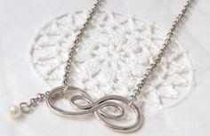 Infinity chain necklace double infinity necklace by jewlerystar