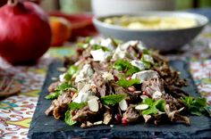 Middle Eastern Pulled Lamb with Persian Feta and Pomegranate
