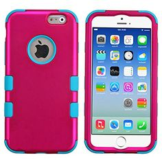 """myLife Neon Blue and Pink {Bright Two-toned 3 Piece Slim Design} Neo Hybrid Armor Case for the NEW iPhone 6 (6G) 6th Generation Phone by Apple, 4.7"""" Screen Version (Two External Snap On Hard Protector Plates + Full Body Internal Soft Silicone Bumper Gel Protection) myLife Brand Products http://www.amazon.com/dp/B00NJ1IVVM/ref=cm_sw_r_pi_dp_X9epub1BQY4K2"""