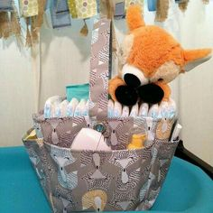 Creative Caddy in Fox Trot print.......great gift idea for a baby shower!!!
