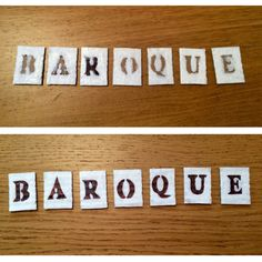 Baroque Title Progress
