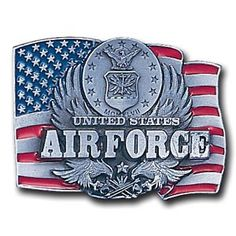 """Checkout our #LicensedGear products FREE SHIPPING + 10% OFF Coupon Code """"Official"""" Air Force Enameled Belt Buckle - Officially licensed Military, Patriotic & Firefighter product Fully cast, metal buckle Bail fits belts up to 2 inches wide Exceptional detail with an enameled finish  - Price: $23.00. Buy now at https://officiallylicensedgear.com/air-force-enameled-belt-buckle-c92e"""