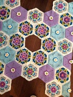 Crochet Afgans, Crochet Quilt, Crochet Blocks, Crochet Art, Crochet Squares, Love Crochet, Crochet Granny, Crochet Motif, Crochet Doilies