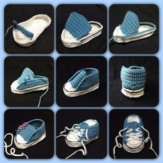 Crochet Converse Baby Booties Pattern Free Video Tutorial Crochet Baby Converse Free Pattern More Knitting works add the time when ladies spend their time to yourself, when they . Crochet Converse, Crochet Baby Shoes, Crochet Baby Booties, Crochet Slippers, Baby Slippers, Crochet Booties Pattern, Baby Shoes Pattern, Knitted Baby, Baby Converse
