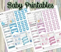 Baby Boy and Baby Girl Planner Printables