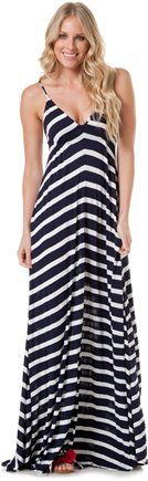 EIGHT SIXTY STRIPE MAXSEE DRESS