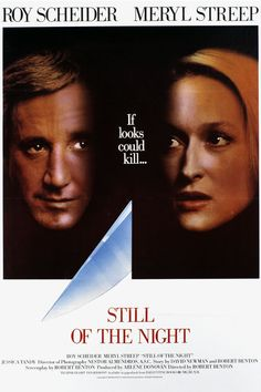 Still of the Night (1982) Stars: Roy Scheider, Meryl Streep, Jessica Tandy, Joe Grifasi, Josef Sommer ~  Director: Robert Benton