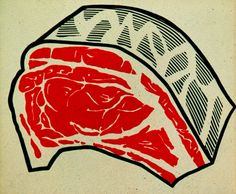 Roy Lichtenstein, Meat on ArtStack #roy-lichtenstein #art