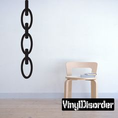 Chandelier Chain Wall Decal - Vinyl Decal - Car Decal - Mv002