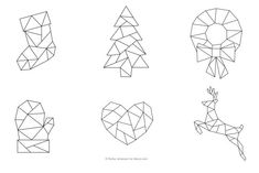 Six FREE Geometric Christmas Embroidery Patterns: Geometric Christmas Patterns