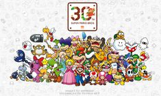 Super Mario Anniversary Collage by ImaginatorVictor on DeviantArt Super Mario 1985, Super Mario Kunst, Super Mario Bros Games, Super Mario Art, Mario Bros., Mario Kart, Super Smash Bros, Nintendo Characters, Video Game Characters