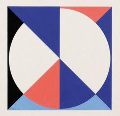 Walter Dexel - Diagonal-geteilt (Serie Scheibe im Quadrat) 1970