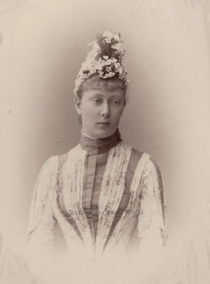 """"""" Princess Sophie of Baden, later Duchess of Anhalt. 1880s Sophie was great grandaughter of Tsar Nicholas I of Russia, through her mother, Princess Maria Maximilianovna of..."""