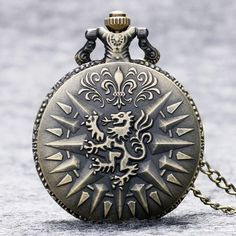 Game of Thrones Hear Me Roar LANNISTER Quartz Pocket Watch