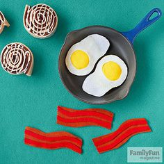 Breakfast Buffet: It's the most important craft of the day, so don't skip these eggs, bacon, and cinnamon buns.