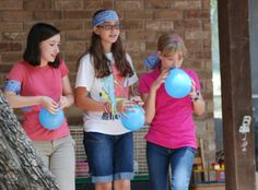 Team games for all ages --- Balloon relay
