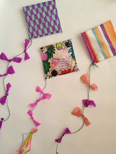 Lovely summer kites DIY by Paul+Paula. Also great as party decoration '