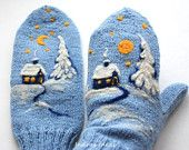 Вязаные Варежки - 2019 / Knitted Mittens / Strickhandschuhe / Guanti a maglia - Baby Mittens, Crochet Mittens, Mittens Pattern, Fingerless Mittens, Crochet Gloves, Knitting Socks, Mitten Gloves, Baby Knitting, Loom Knitting
