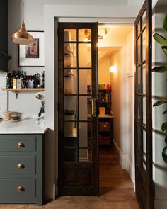 """deVOL Kitchens's Instagram photo: """"A walk-in pantry really is the dream scenario. We're all looking for ways to be more ethical and sustainable and cut down on packaging, so…"""" Küchen Design, Home Design, Layout Design, Interior Design, Interior Doors, Design Ideas, Interior Office, Interior Livingroom, Interior Modern"""