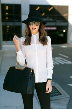 Outfit elegante para viajar