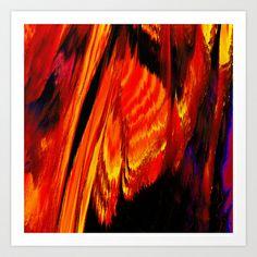 Marmalade Flames Art Print by David  Gough - $15.00