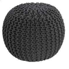 Hand Knitted Pouffes Round Sphere Chunky Footstools Ideal Decorative Seat Chair | eBay