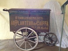 Amazing antique French flower cart