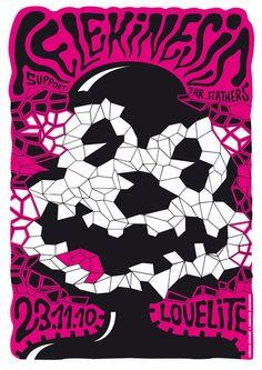Telekinesis concert poster by Stefan Fähler