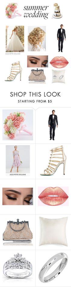"""wedding"" by gymnast-jaz ❤ liked on Polyvore featuring Kenneth Cole, ASOS, Betsey Johnson, Hallmart and Kobelli"