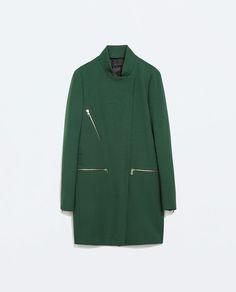 Image 7 of ZIP BUCKLE COAT from Zara