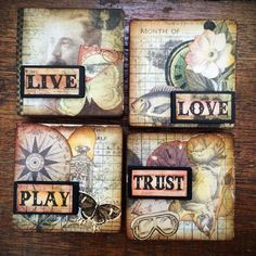 altered wooden toy blocks