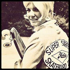 Hobie Girl - Super Surfer Skateboard Team!    So retro - so dope!