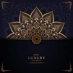 Luxury mandala background with golden arabesque pattern arabic islamic design - Buy this stock vector and explore similar vectors at Adobe Stock Luxury Background, Flower Background Wallpaper, Flower Backgrounds, Vector Background, Mandala Drawing, Mandala Art, Ramadan Cards, Ramadan Background, Tv Wand