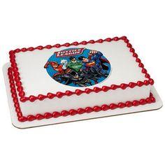 Justice League Edible Cake Topper