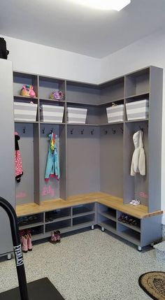 This Nice Gray Melamine Mudroom Attachment Is Part Of A Complete Custom  Garage Unit! Designed