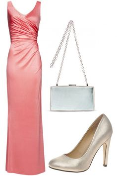 What to Wear to a Wedding  Want to impress at this year's weddings? We've got just the thing...    WEDDING GUEST OUTFITS  Go for a full-on glamorous look in this ruched pink gown from Mango. Add shimmering metallic heels and an ice cool handbag to complete the look.