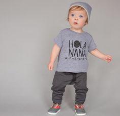 Hola Nana Adorable babe in our #holanana shirt! Thanks @tinytots_photography for sharing || Shop www.stellar-seven.com || #stellarseven #ig_kids #fashionkids #kidmodel #instagramkids #instababy #instakids #grandma #kidsfashion #shopsmall