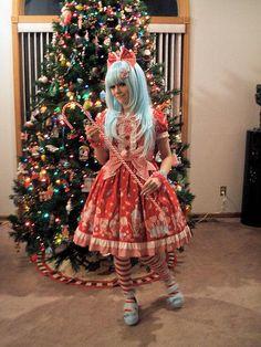I love mint x red Mode Lolita, Angelic Pretty, Pastel Goth, Lolita Fashion, Style Me, Harajuku, Cute Outfits, Fairy, Mint