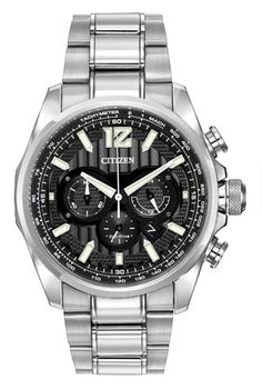 Citizen Men's Chronograph Eco-Drive Shadowhawk Two-Tone Stainless Steel Bracelet Watch Gents Watches, Cool Watches, Watches For Men, Citizen Watches, Stainless Steel Bracelet, Stainless Steel Case, Affordable Watches, Citizen Eco, Models