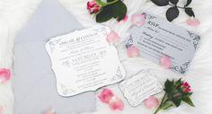 Engraved Royal Style Acrylic Wedding Invitations