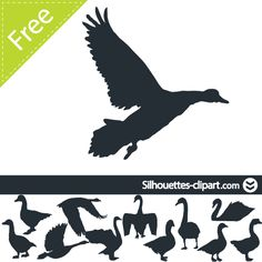 Geese  free vector silhouettes clipart
