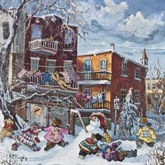 Under the snow  www.paulinepaquin.com Canadian Winter, Love Energy, Winter Art, Love And Light, Arts, Childhood Memories, Original Paintings, Snow, Deco