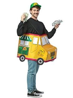 2018 Adult Taco Food Truck Costume and more Food Costumes for Men, Funny Costumes for Men, Men's Halloween Costumes for