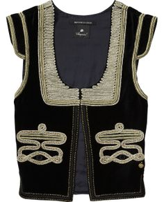 Circus Inspired Embellished Gilet > Womens Clothing > Gilets at Maison Scotch