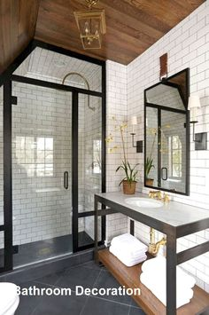 Farmhouse Bathroom Accessories, Diy Bathroom Decor, Bathroom Styling, Modern Bathroom, Bathroom Trends, Bathroom Ideas, Boho Bathroom, Bathroom Showers, Design Bathroom