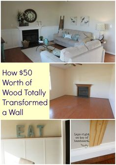 For only $50.00 this clever DIY'er transformed the look of an entire room.