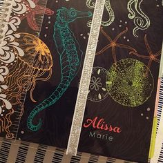 """""""My @erincondren planner finally arrived, whoop whoop! Ans if sea creature themed of course. Now i can keep all my swaps in order  #erincondren…"""""""